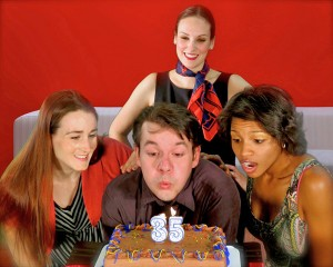 """COMPANY""  performers here are Lauren Yates, Jeff Loyd,  Caitlin Mickey, Alicia Revé                    Larry March photo"