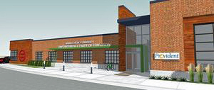 Rendering of New Job Center To be built at Site of former Quick Trip