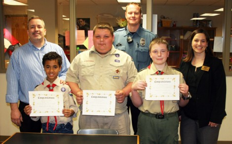 3 Area Scouts are Honored for rescue