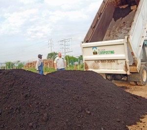St. Louis Composting driver, Adam Carle speaks with Joe Spears about the compost.