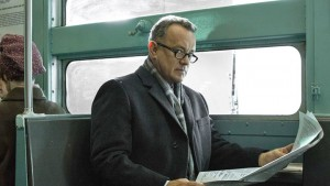 TOM HANKS in another rock-solid performance as lawyer who provides the defense in a  historic case about a Russian spy in Bridge of Spies