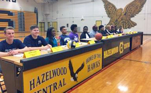 Hazelwood Central athletic signers