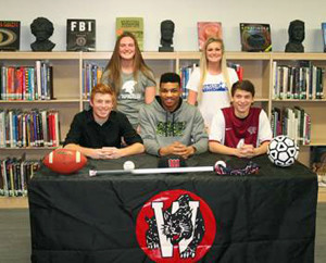 Hazelwood West athletic signers