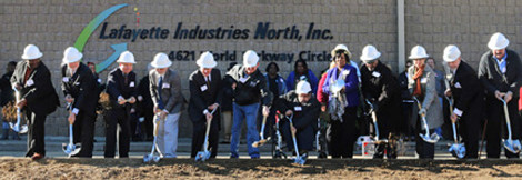 Ground-breaking ceremony for expansion by Lafayette Industries North, Inc.