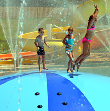 Hazelwood's Aquatic Center offers the region's only bubble slide. On a hot summer day, kids can race each other up to the top of the bubble slide and then bounce or slide their way into the cool, refreshing water.
