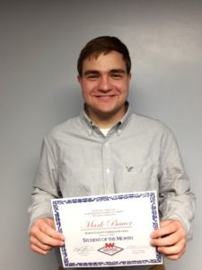 Mark Bauer NW Chamber Of Commerce NCCS Student of the Month