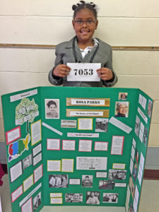Mikayla presented Rosa Parks