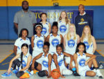 Atonement Lutheran Middle Lady Eagles: Top Row: Coach Andre Blakemore, Tristan Stith, Miranda Bredenkoetter, Coach Harold Williams Middle Row: Kendall Williams, Aiyana Buford, Kelsey Blakemore, Mya Shorley-Gierer, Allison Pohlman Bottom Row: Andie McCool, Alanah Williams, Aliyah Williams, Kendall Brown