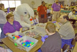 Valley Industries employees works on Easter Egg Hunt service project.