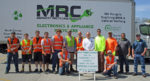 Pictured is Ward 4 Councilman Jeff Caputa, members from the Health Department  and MRC employees that assisted the public during the Electronics Recycling Day.