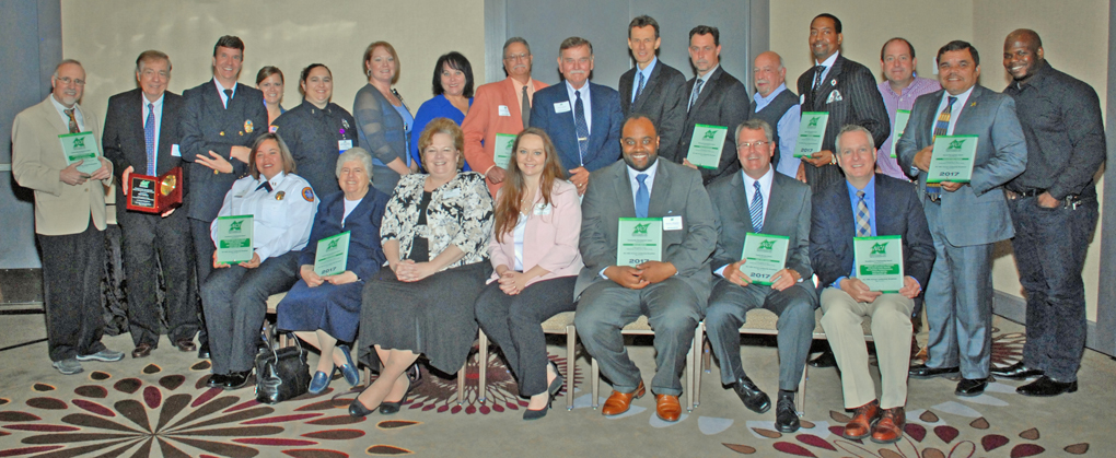 Group shot of all the North County Inc. honorees at NCI's 40th Annual Leadership Breakfast held May 19 at the Airport Marriott.