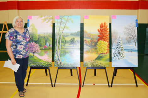 'BEST OF SHOW' AWARD goes to Four Seasons Artist Melanie Priest for her four panel work.