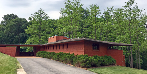 The exterior of the Kraus House in Kirkwood designed by Frank Lloyd Wright. Pat Lindsey photos