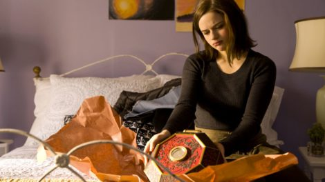 Teenaged Clare (Joey King) struggles with a mysterious wish-granting box in the horror film Wish Upon.