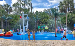 The kids can cool down at Wharton Smith Tropical Splash Ground in Seminole County's Central Florida Zoo & Botanical Gardens.