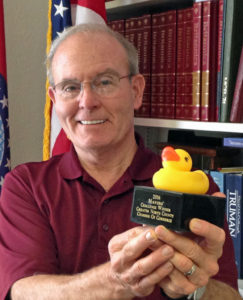 Mayor Tom Schneider will defend his title in the 2017 Mayor's Duck Race trophy competition.
