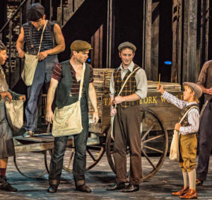 """Jay Armstrong Johnson stars as Jake Kelly in the lead male in """"Newsies"""""""