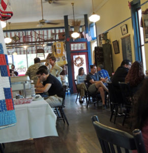 Alton's Haunted Odyssey's Eating with the Entities tours start at My Just Desserts, located at 31 E Broadway.