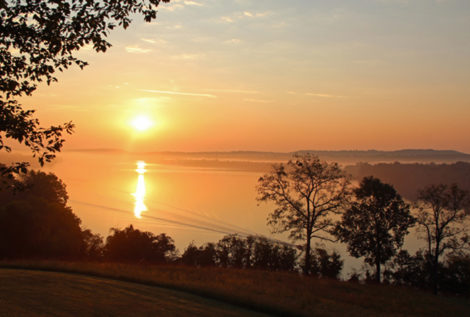 This is the scene that will greet you each morning from your deck in the duplex cabins at Cave-in-Rock Lodge, Illinois -- Pat Lindsey photo