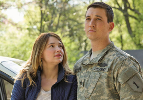 "Shu (aka) Adam Schumann (Miles Teller) and Adam's wife Saskia (Haley Bennett) struggle with his PTSD in ""Thank You For Your Service,"" which opens just in time for Veteran's Day."