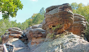 The Garden of the Gods in the Shawnee National Forest.