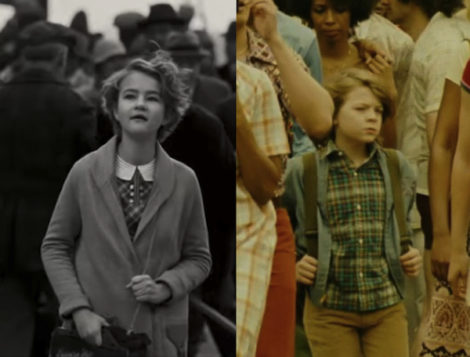 "Fifty years apart, Rose (Millicent Simmonds) and Ben (Oakes Fegley) brave New York City alone in ""Wonderstruck"""