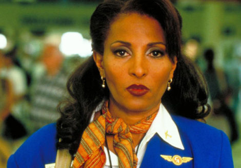 Pam Grier as Jackie Brown in Director Quentin Tarantino 1997 film named for the main character.