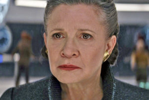 The late Carrie Fisher in the newest 'Star Wars: The Last Jedi.'