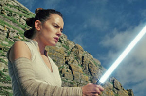 Daisy Ridley in 'Star Wars: The Last Jedi.'