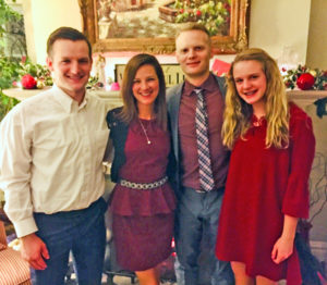 The Bennett family: Kyle, Christina, Nathan, and Kaylie. The family has their restaurant in Old Town Florissant, but also reside in Old Town.