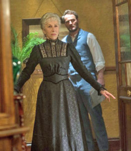 PHOTO CAPTIONS:  Helen Mirren and Jason Clarke star in the Gothic melodrama 'Winchester,' in theatres now. The film explores the history of the famed house, with touches of the supernatural.